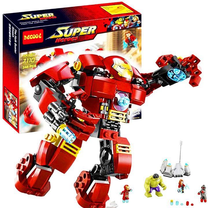 Bộ Lego Xếp Hình Ninjago Marvel Super Heroes 7110. Gồm 248 Chi Tiết. Lego Ninjago Lắp Ráp Đồ Chơi Cho...