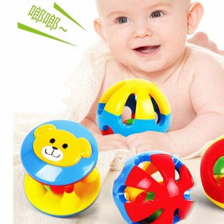 3 Pcs Set Bell Ring Ball Baby Infant Kid Toy Musical Instrument Plastic Shaker