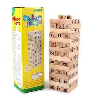 Bộ rút gỗ Wood Toys size lớn 48 thanh
