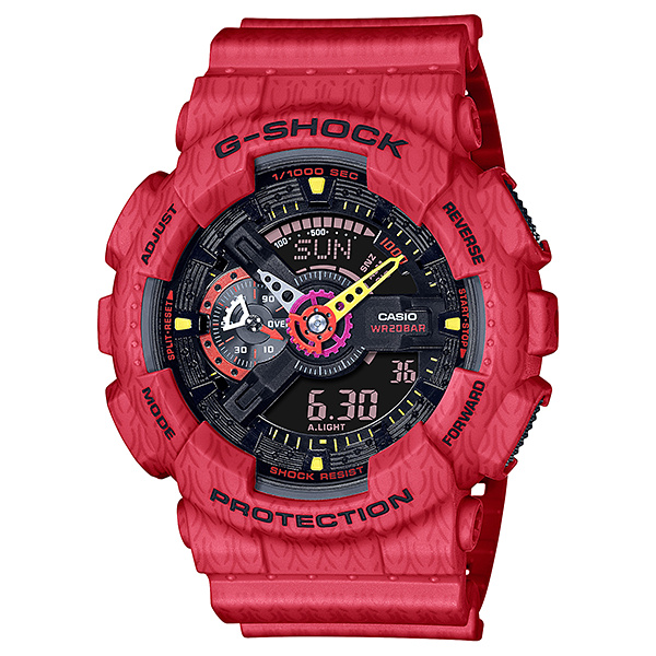 Đồng hồ Nam Dây Nhựa Casio G-Shock GA-110SGH-4ADR chính hãng bảo hành 5 năm Pin trọn đời