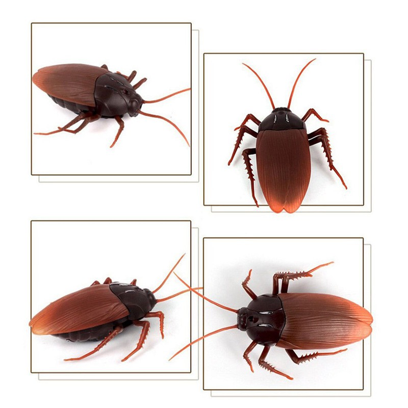 Remote Control Mock Fake Cockroach Toy Prank Insects Joke Scary Trick Bugs