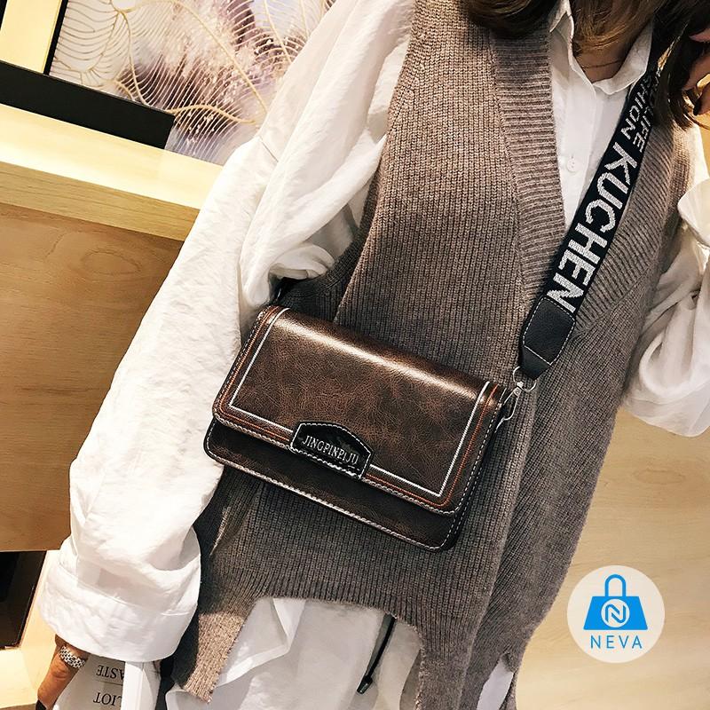 (NEW) Túi xách nữ da trơn trần chỉ mẫu mới NEVA9230