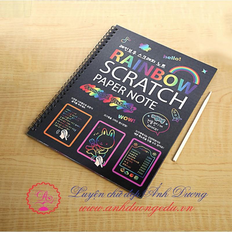 Sổ ma thuật Rainbow Cractch Note 26x19cm