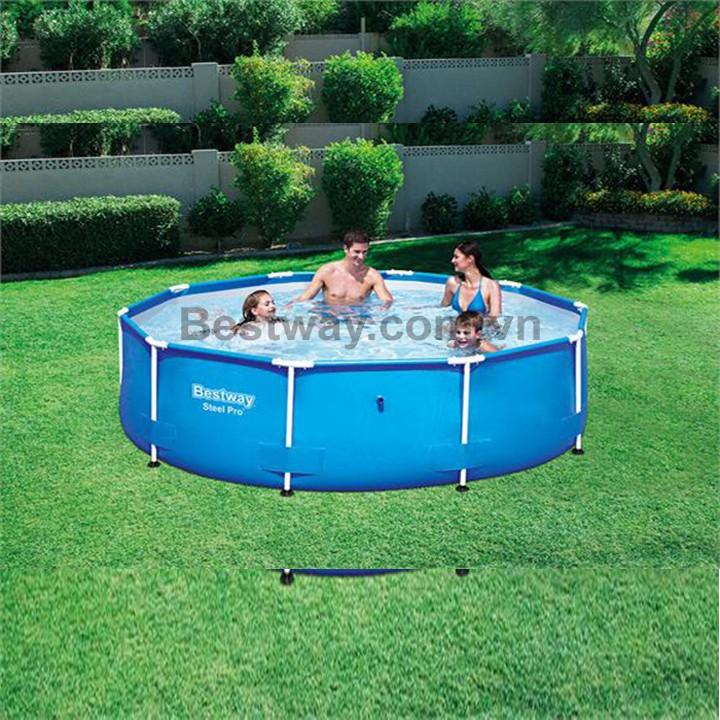 Bể Bơi Khung Kim Loại - Đường Kính 3.05m x cao 76cm - Tặng kèm kính bơi - Phân Phối...