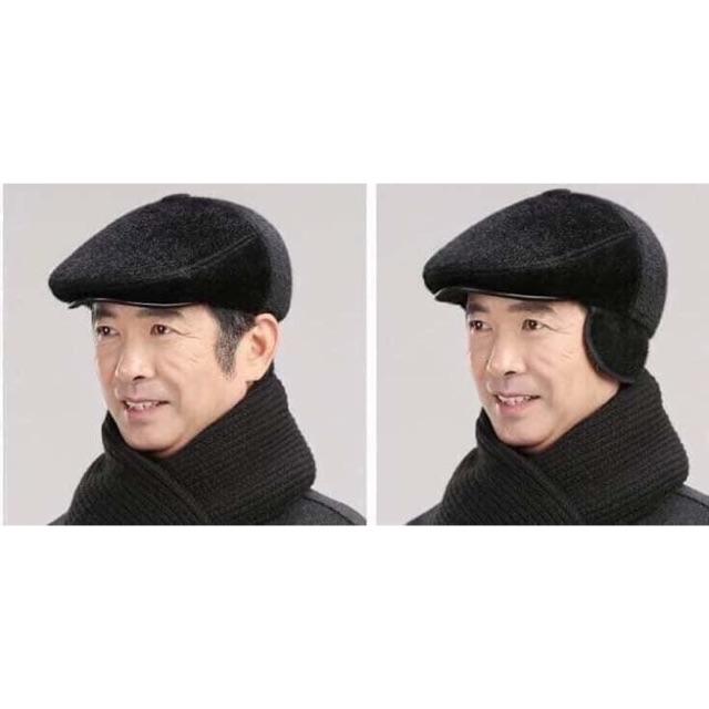 Mũ lông ấm tai cho tuổi trung niên