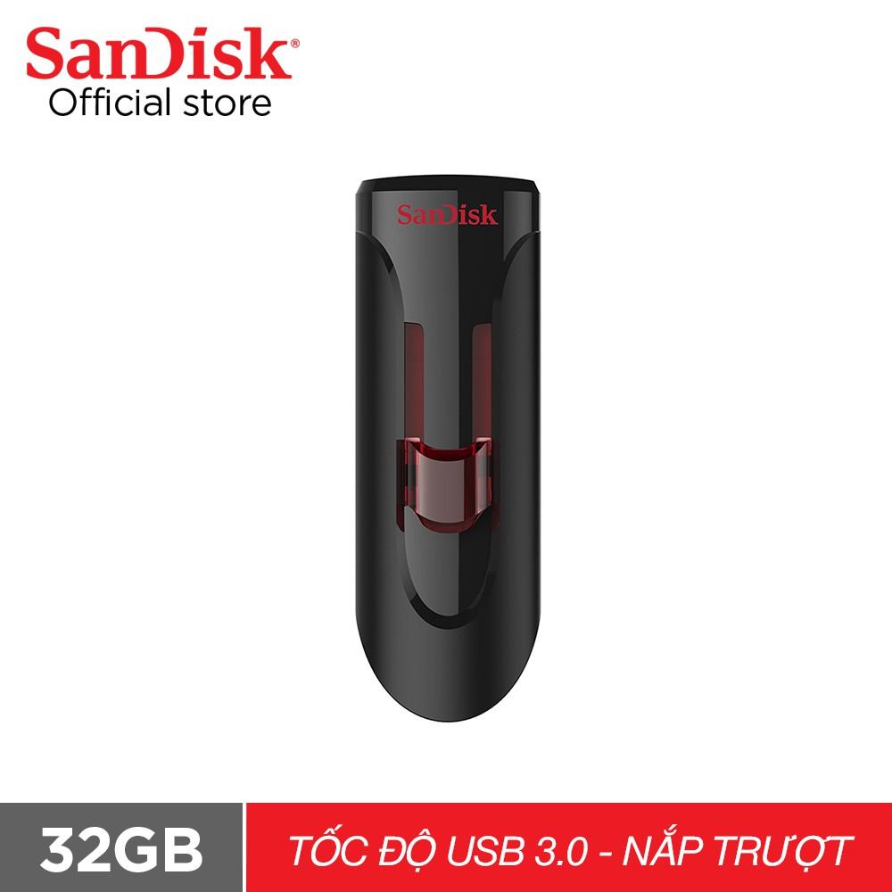 USB 3.0 SanDisk CZ600 32GB Cruzer Glide tốc độ cao upto 100MB/s - Chính hãng