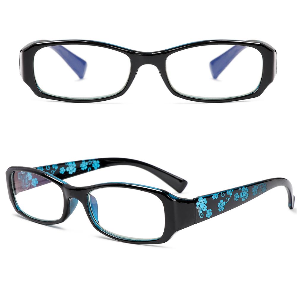 YVETTE Fashion Reading Glasses Comfortable Eye Protection Anti-Blue Light Eyeglasses Portable Women Men Antifatigue Flowers Vintage Ultra Light Frame/Multicolor
