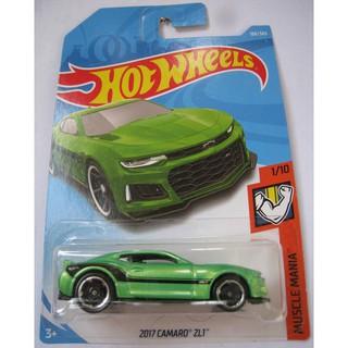 Xe Hot Wheels '17 Camaro ZL1 màu xanh lá cây