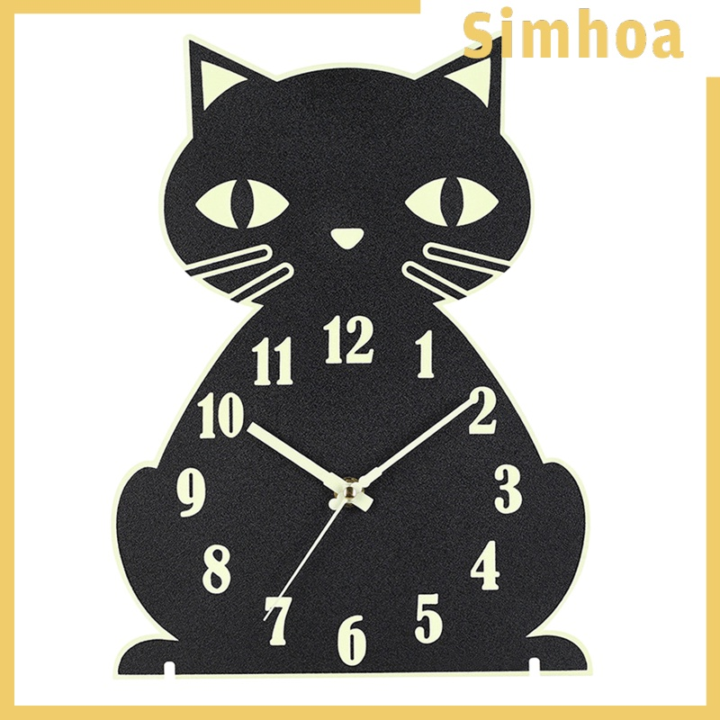 """Đồng Hồ Treo Tường Hình Mèo 12 """"Dùng Trang Trí Phòng Ngủ"""