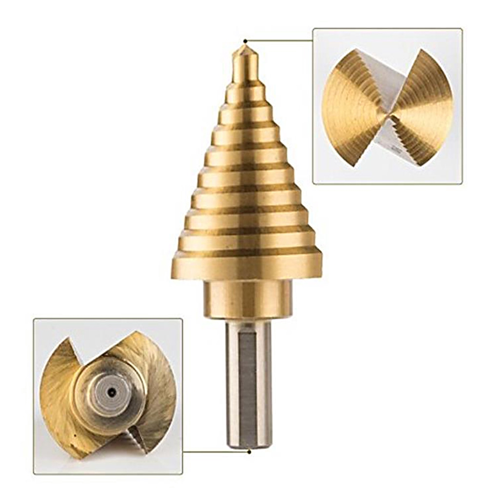 Electric 5 Type Drill Bit Titanium Coated Accessories Multifunctional High Speed Steel Hole Jig