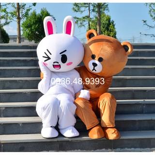 [11 loại mặt gấu có sẵn] Mascot Gấu Brown – Tặng kèm áo làm mát – Quần áo hoá trang