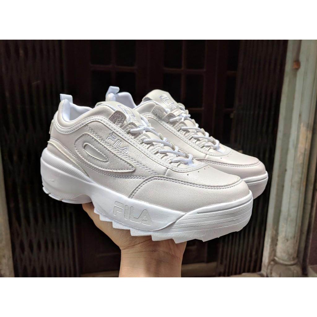 [FREE SHIP] Giày FILA Disruptor II màu trắng full (All White)
