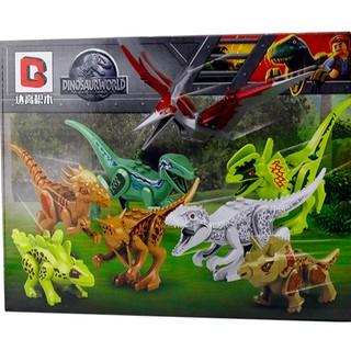 Đồ chơi lắp ráp lego khủng long dinosaur world 1092 trọn bộ 8 hộp như hình.