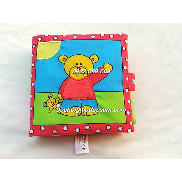 Sách vải tương tác một ngày của Gấu con