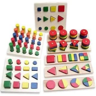 Bộ 8 món montessori – Đồ chơi giáo dục cho bé