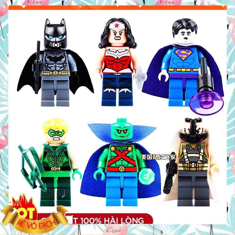 [ XẢ HÀNG LEGO ] ⚡GIÁ RẺ GIẬT MÌNH ⚡ Bộ Đồ Chơi Lắp Ráp lego minifigures Mô Hình Siêu Anh Hùng 0211-0216