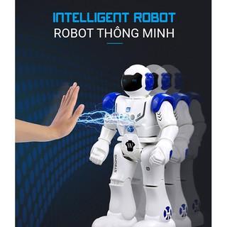 Robot Điều Khiển Thông Minh, Cảm Ứng Cử Chỉ, Nhảy, Múa, Hát, Kể Chuyện, Nói Tiếng Anh, Tiến, Lùi, Rẽ Trái- Phải