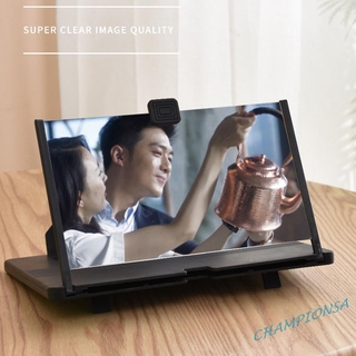 [Ready Stock] 10 inch Phone Screen Magnifier 3D HD Video Amplifier Desktop Stand Bracket