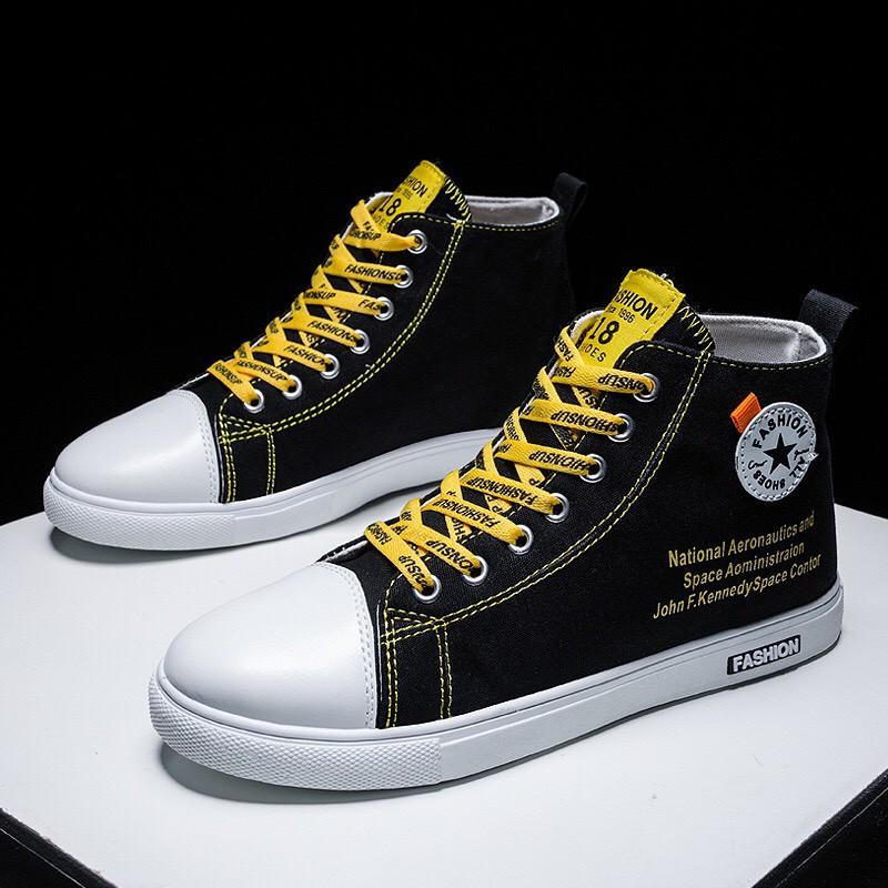 Giày Nam Chạy Bộ - Giày Thể Thao Nam Đen Fashion Nam Dễ Đi Thoáng Khí