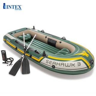 Bộ thuyền bơm hơi Seahawk 3 người INTEX 68380