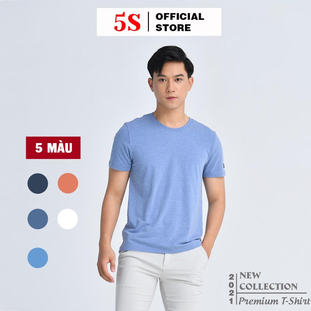 Áo Thun Nam Tay Ngắn 5S Premium (5 màu), Chất Liệu Thun Mềm, Mát, Bền Màu (TSO21003-02).