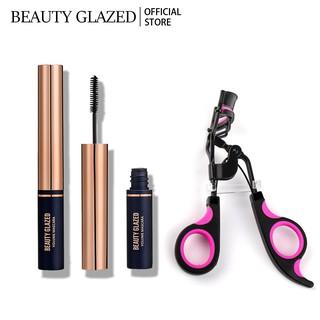 Mascara BEAUTY GLAZED chống thấm nước màu đen + Dụng cụ uốn mi mắt