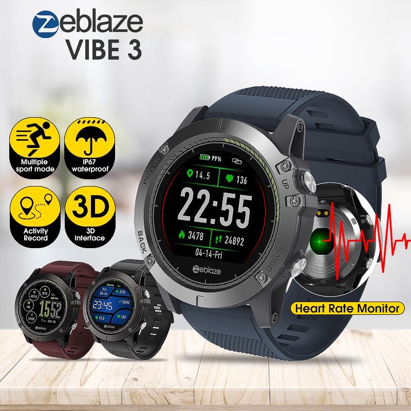 Đồng hồ thông minh Zeblaze VIBE 3 HR theo dõi sức khỏe cho iOS Android