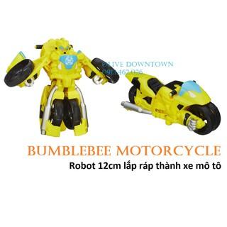 [Mã NOWSHIPVUI1 giảm 25k đơn 50k] BUMBLEBEE Motorcycle – Robot 11cm ráp thành xe mô tô – Transformers Rescue Bot