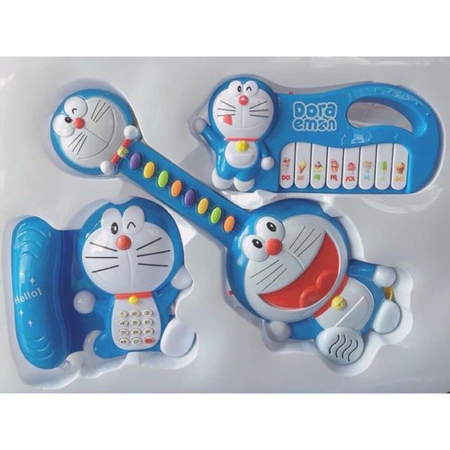 bộ đồ  chơi đàn guita và organ (màu xanh và hồng ) cho bé