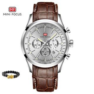 [Tặng vòng tay] Đồng hồ nam chính hãng Mini Focus MF0116G.02 dây da cao cấp thumbnail