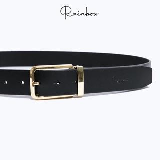 Dây nịt nam da bò công sở Rainbow BELT003, 3 màu thời trang lịch lãm đầu khóa hợp kim vàng cao cấp thumbnail