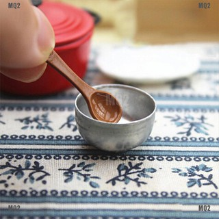 [MQ2]2pcs 1:12 Miniature iron bowl dollhouse diy doll house decor accessories