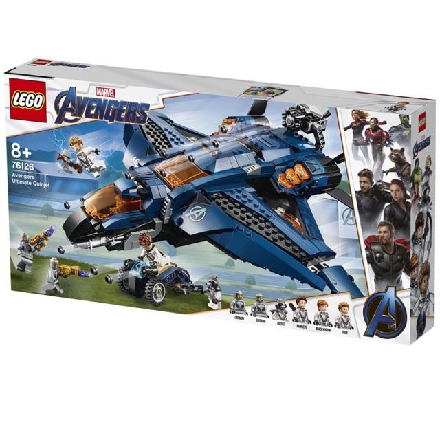 [CÓ SẴN] Lego UNIK BRICK 76126 Avengers Ultimate Quinjet – Máy bay Quinjet của Biệt đội Avengers chính hãng (như hình)