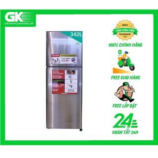 X346E SL Tủ lạnh Sharp Inverter 342 lít SJ-X346E-SL
