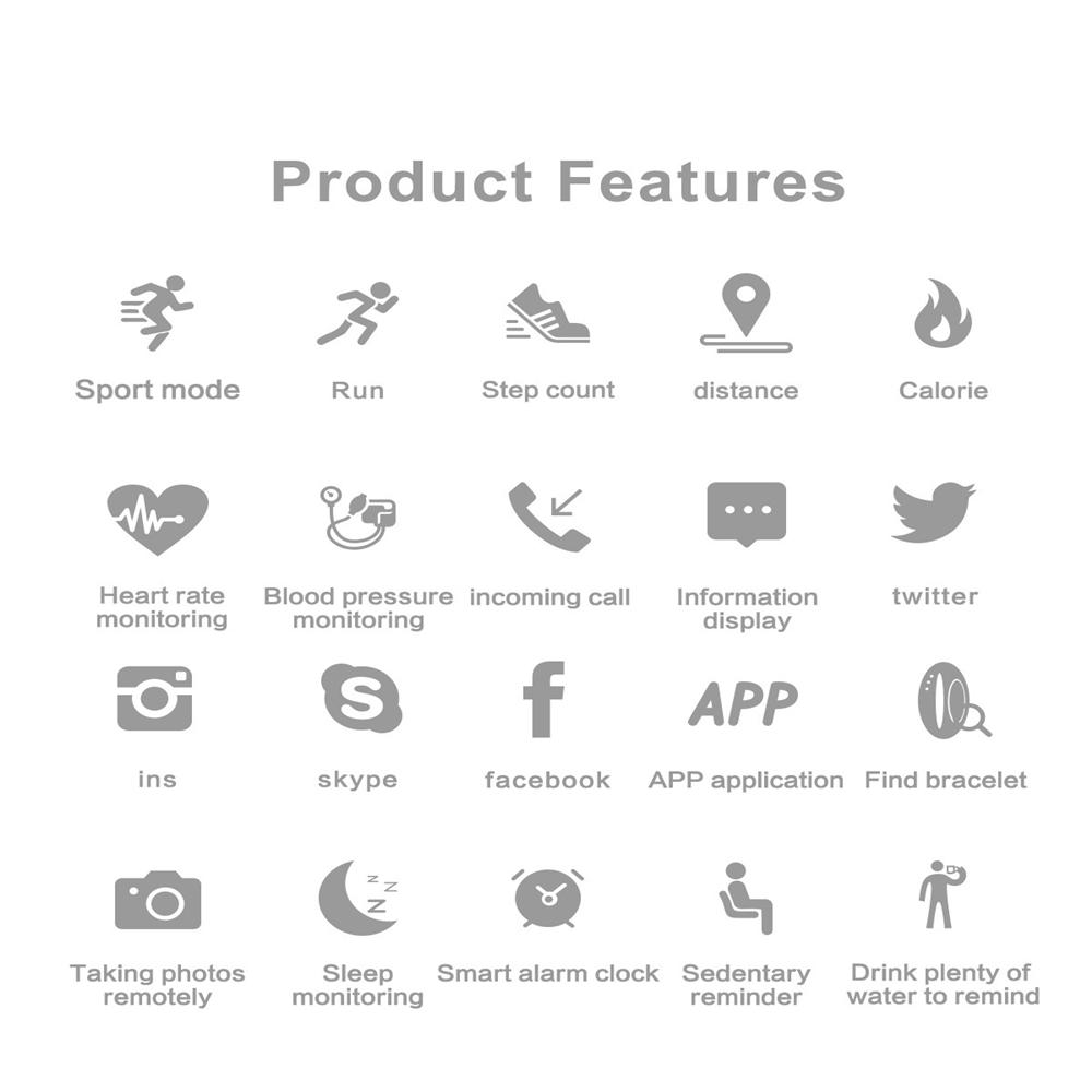 Vòng Đeo Tay Thông Minh Theo Dõi Sức Khỏe M4 Kết Nối Bluetooth