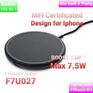 BOOST CHARGETM Đế sạc nhanh không dây Belkin 10W cho Iphone, Airpods, F7U050, F7U027, F7U054, Chuẩn MFI [Music4U] thumbnail