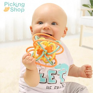 Baby Newborn Teether Ball Music Toy Rattles Early Educational Grasping Ball