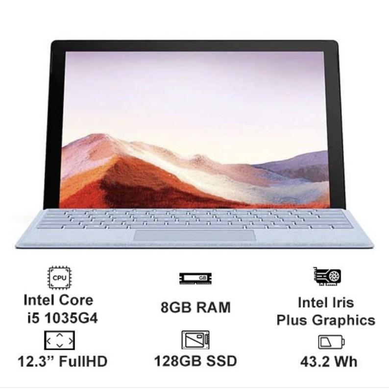 Máy tính Surface pro 7 chính hãng Microsoft core i5/8gb/128gb nguyên seal mới 100%