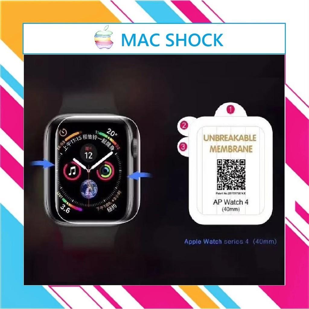 Miếng dán dẻo skin PPF Apple watch phục hồi trầy xước size 38 40 42 44mm - MACSHOCK