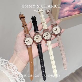 Đồng hồ nữ DOUKOU chống nước dây da mặt tròn 4 màu basic thumbnail