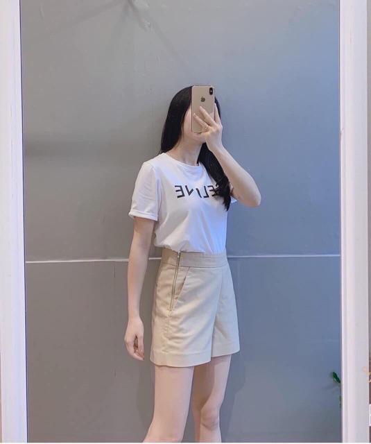 Quần shorts cạp cao Quần short KHÁO GIỌT LỆ hông 6316