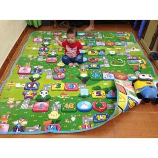 Thảm Maboshi 1.8m x2m Hoạt Hình 2 Mặt Cao Cấp Chống Thấm