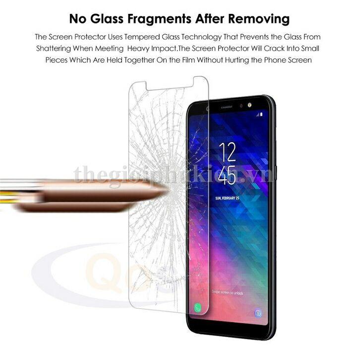 Bộ 2 Kính cường lực Glass dành cho Samsung Galaxy A6+ Tặng Ốp Dẻo