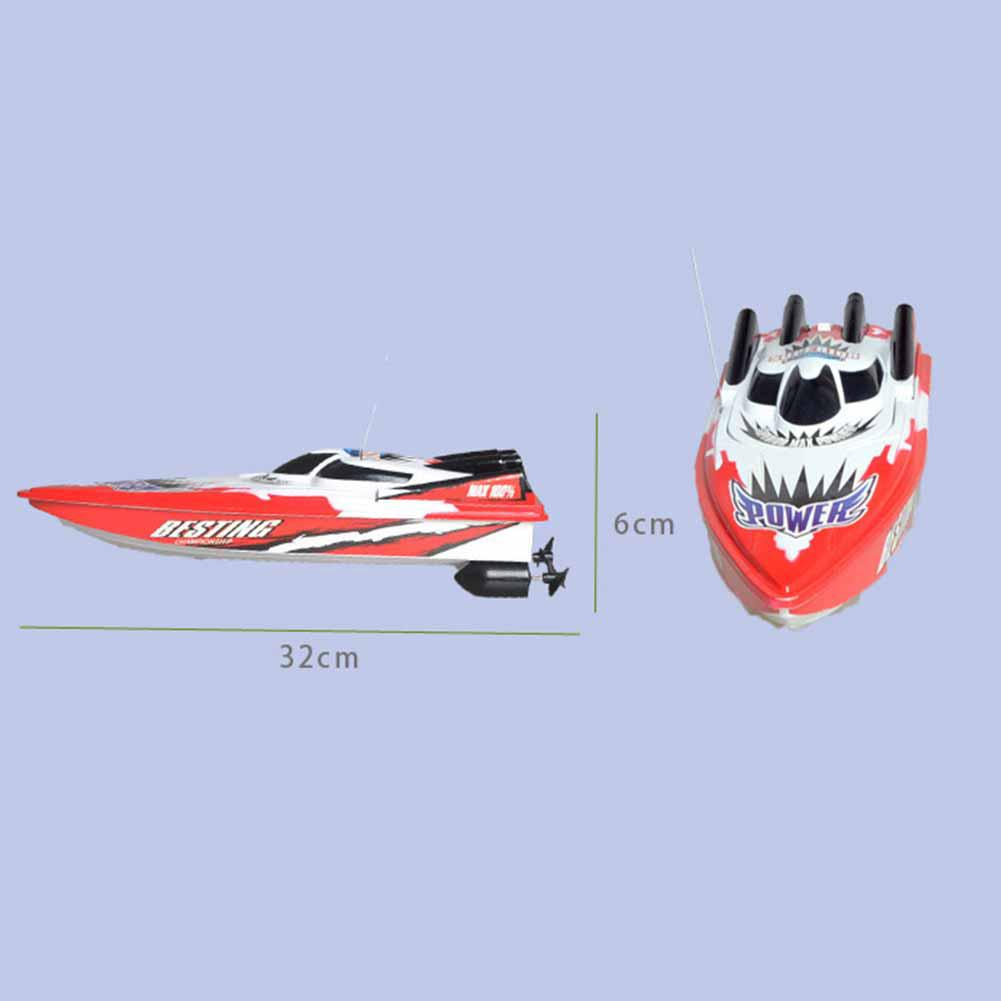 Radio Remote Control Twin Motor High Speed Boat RC Racing Outdoor Distance 30m for Boys Birthday Gift Red/Green