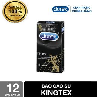 Bao Cao Su Durex Siêu Mỏng King tex hộp 12 bao cam kết chính hãng