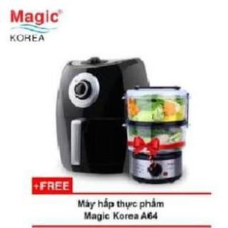 COMBO NỒI CHIÊN KHÔNG DẦU MAGIC KOREA A84+ NOI HAP A64