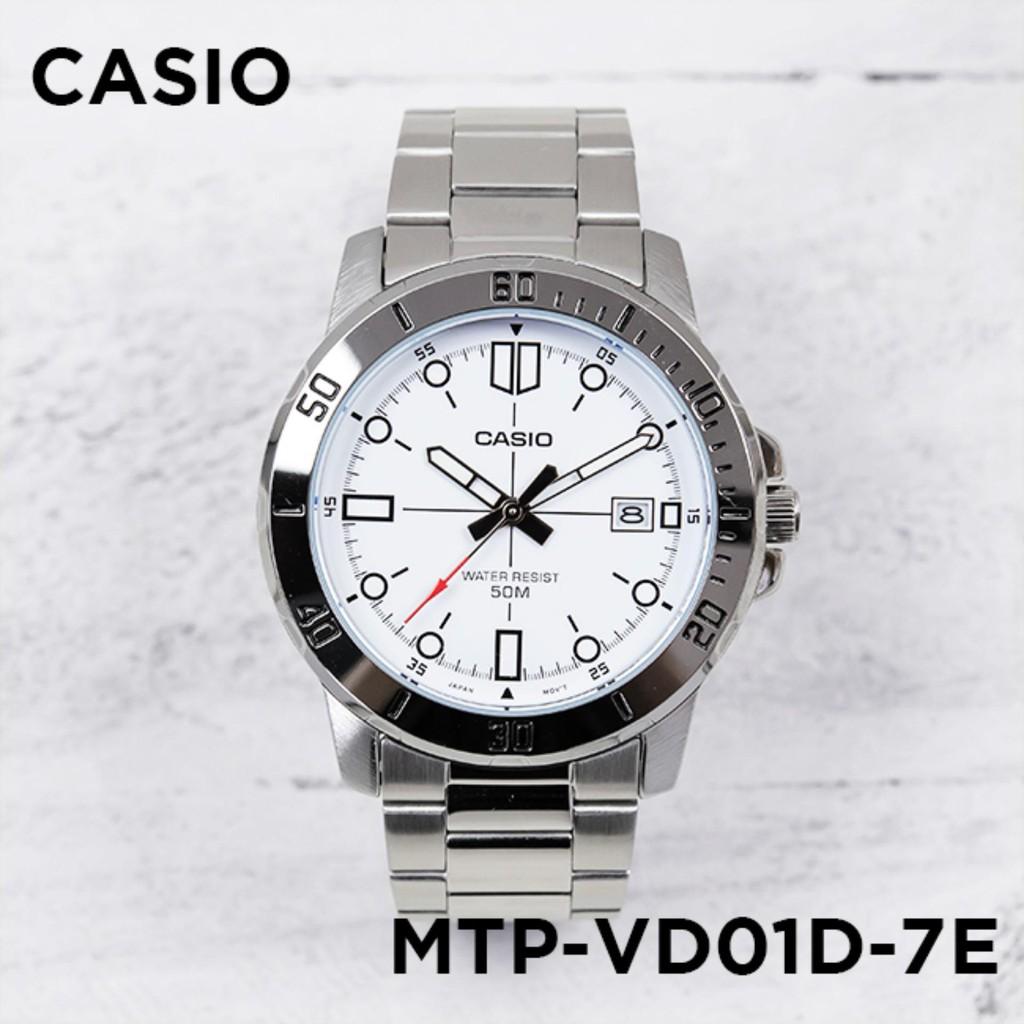 Đồng hồ nam dây kim loại Casio Anh Khuê MTP-VD01D-7EVUDF