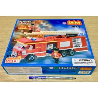 Hộp Lego xếp hình xe cứu hỏa