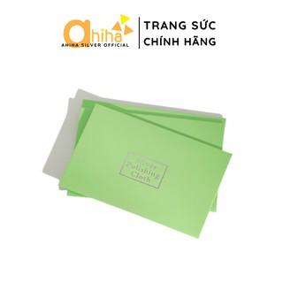 Khăn vệ sinh trang sức bạc bằng da nhung Ahiha® - PK04