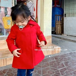 Áo dạ đỏ TU dư xịn cho bé 1-5y